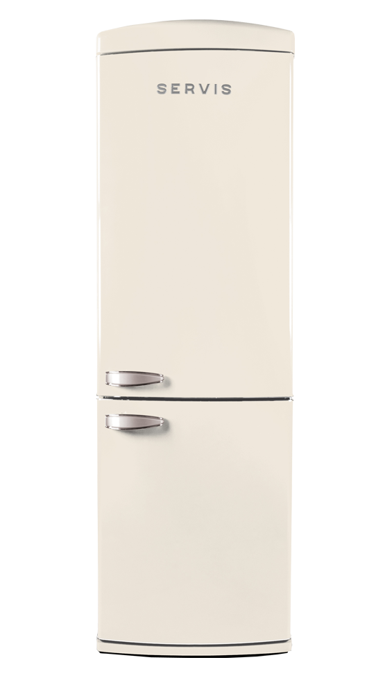 C60185NFC - Classic Cream - Retro Fridge Freezer