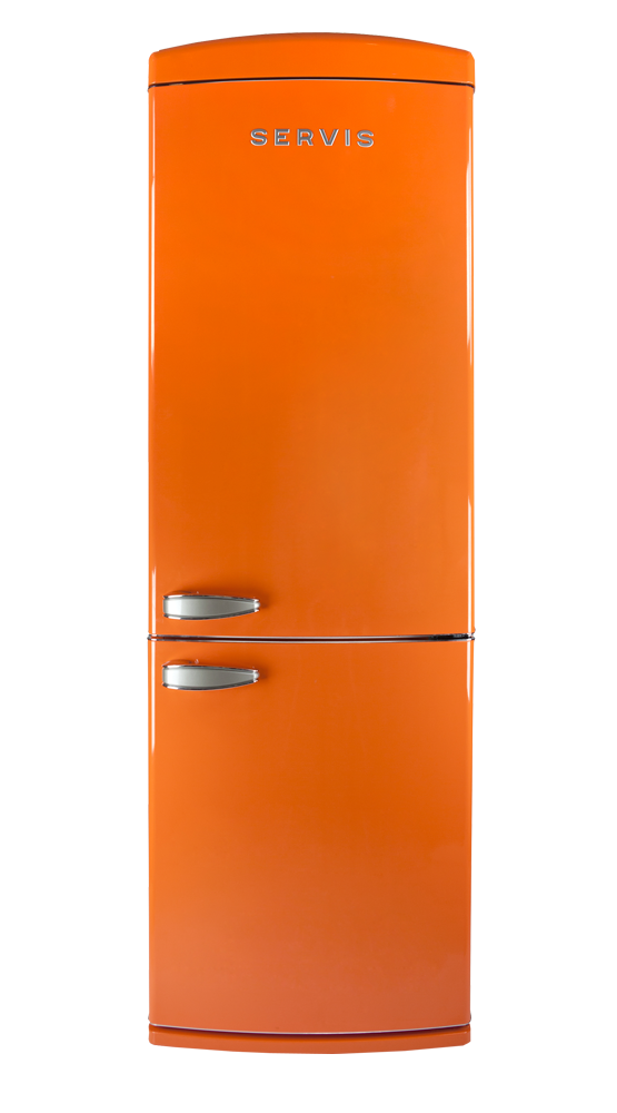 C60185NFTG - Tangerine Dream Orange - Retro Fridge Freezer