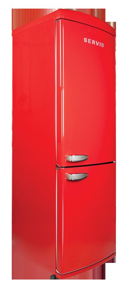 servis c60185nfr chilli red retro fridge freezer. Black Bedroom Furniture Sets. Home Design Ideas