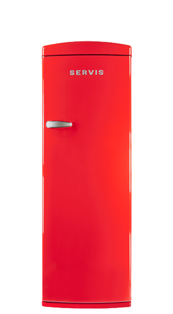 R60170R - Chilli Red - Retro Fridge