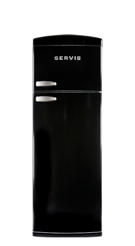 T60170B - Jet Black - Retro Topmount - Fridge Freezer