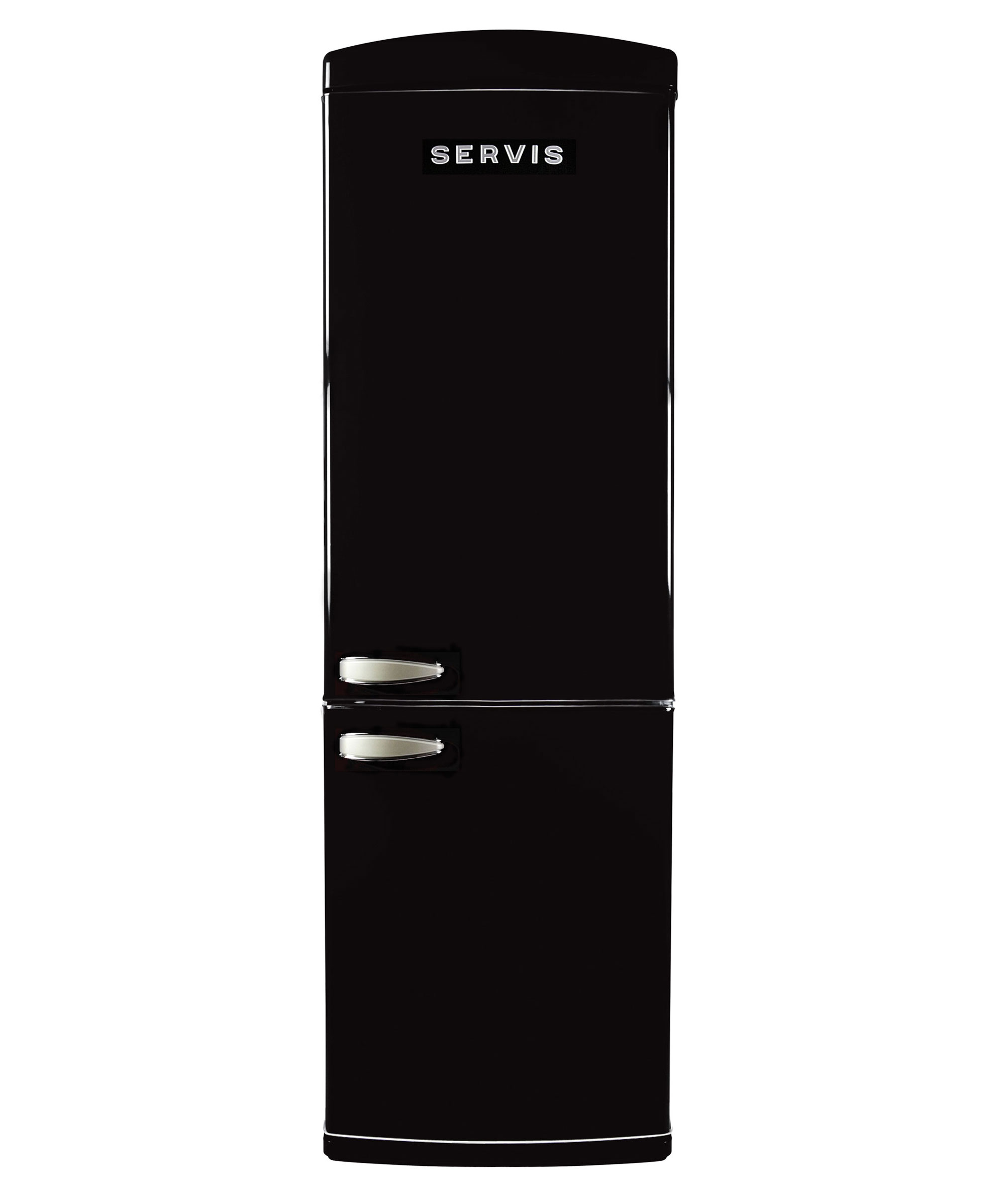 C90185RETROB - Jet Black - Retro Fridge Freezer