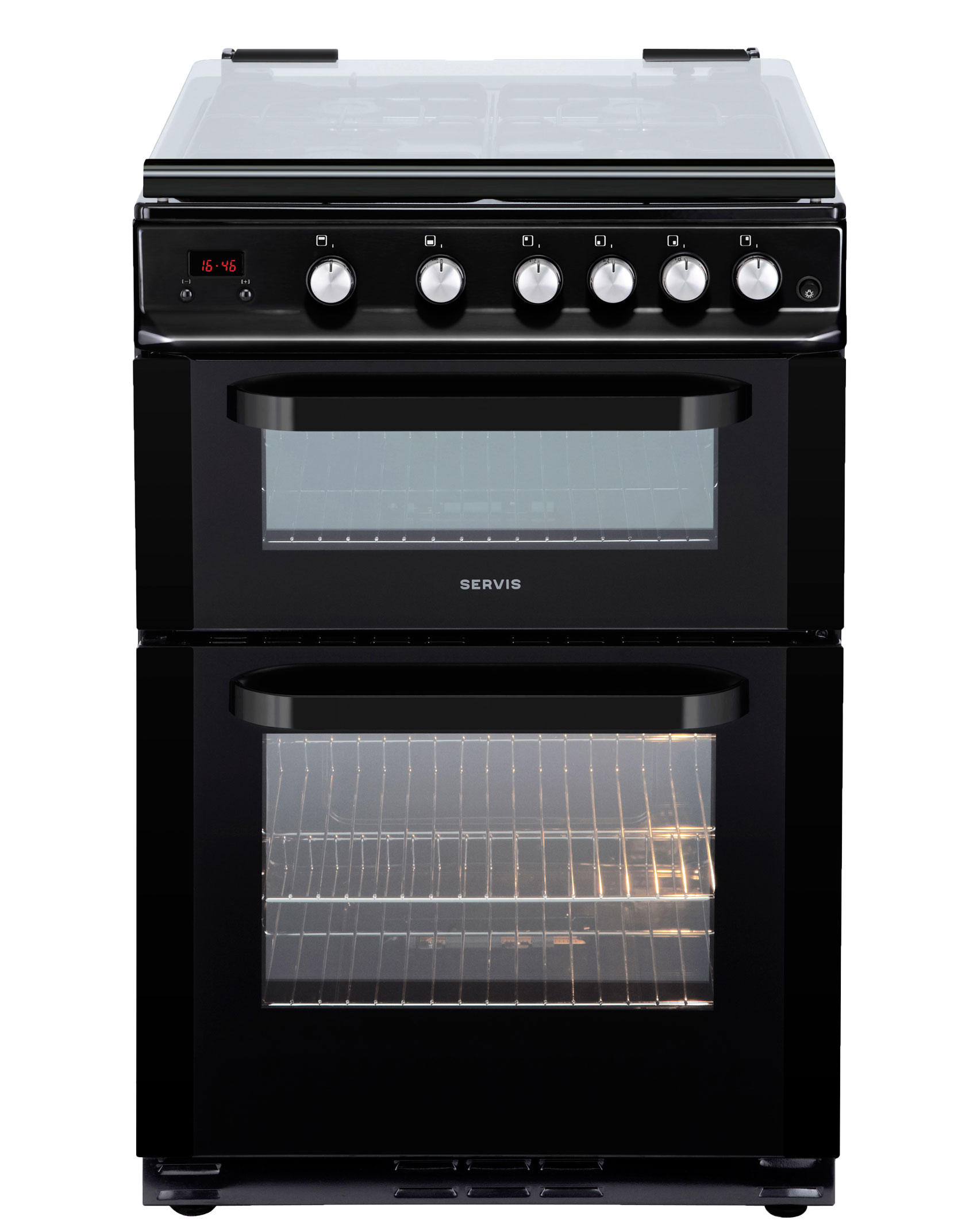 DG60B - Black - Gas Cooker