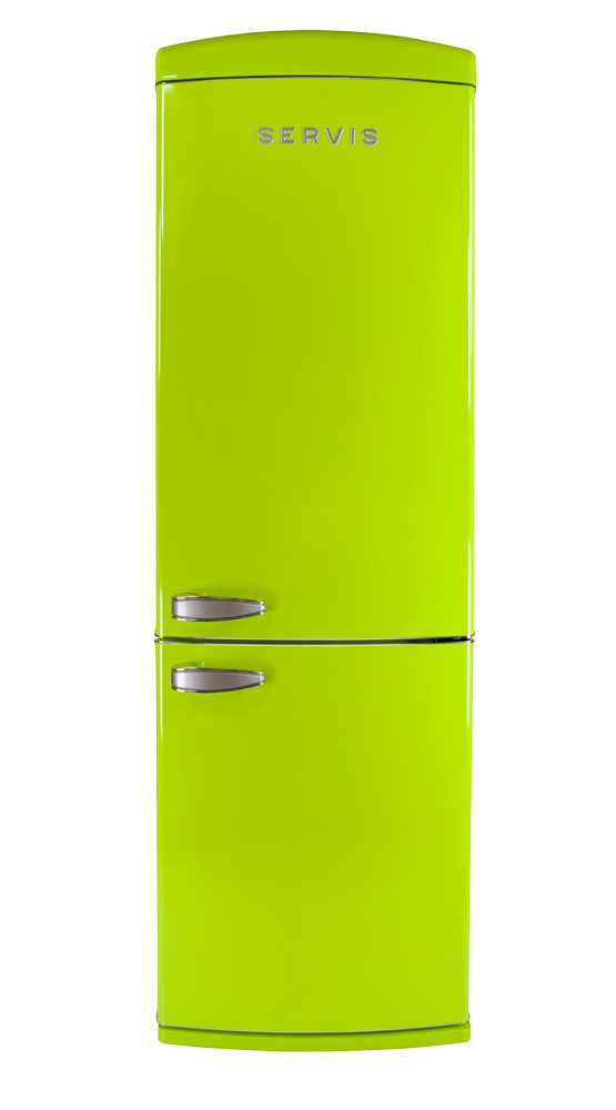 C60185NFPT - Pistachio Green - Retro Fridge Freezer