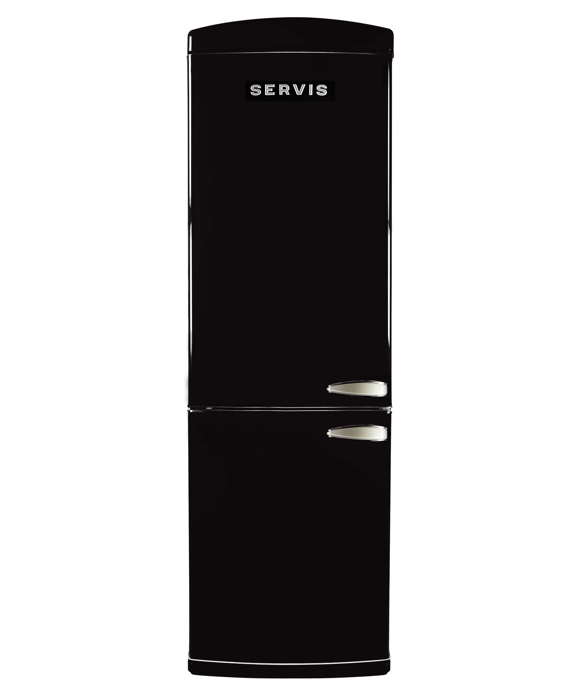 C90185RETROB-L - Jet Black - Left Hand Hinge Retro Fridge Freezer