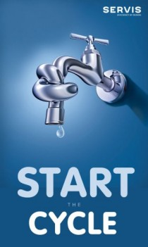 And we're off! Start the Cycle and see how much water you can save