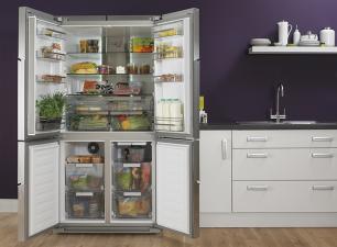 Servis Fd91185ss 4 Door American Fridge Freezer