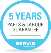 5 year guarantee badge